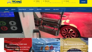 Nou treball web per Carrosseries Toni